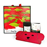 FUN II Fong Chá Taiwanese Deluxe Tea Gift Set, 50g Hand-Picked Pure Dayuling High Mountain Scarlet Oolong Loose Tea Leaf & 6 Taitung Honey Flavor Oolong Tea Bags & 2 Fortune Dog Red Envelopes