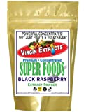 Virgin Extracts (TM) Premium Raw Freeze Dried Organic Black Raspberry Powder Extract Concentrate 16oz Pouch (5 X Stronger) Black Raspberry Powder Raspberries Superfood