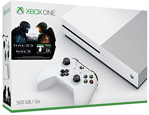 Xbox One S 500GB Console – Halo Collection Bundle [Discontinued] (Certified Refurbished)