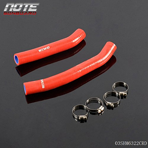 Silicone Coolant Radiator Hose Kit Clamps For Suzuki LTR450 LTR 450 2006-2012 Red
