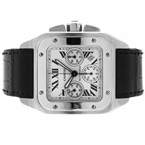 Cartier Santos automatic-self-wind mens Watch W20090x8 (Certified Pre-owned)