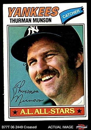 75d9ddd1a1c 1977 Topps   170 Thurman Munson New York Yankees (Baseball Card) Dean s  Cards 3