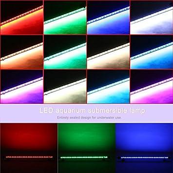 Lámpara LED para Acuario Sumergible 5050SMD para Acuario: Amazon.es: Hogar