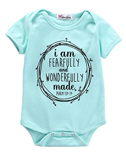 Made Outfit (I Am Fearfully And Wonderfully Made Infant Baby Girl Romper Bodysuit (0-3M))