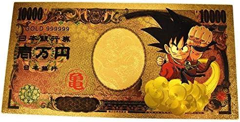 ZYZRYP コレクションのための新しい金の紙幣日本ドラゴンボール悟空Kakarotto万円ドラゴンボールZ Posteの衣装子供の頃の記憶 使いやすい (色 : Dragon ball, サイズ : 10pcs)