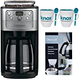 Cuisinart DGB-700BC Graind & Brew 12-Cup Automatic Coffeemaker + Knox 16oz. Mug With Spoon (2 Pack) + Accessory Kit