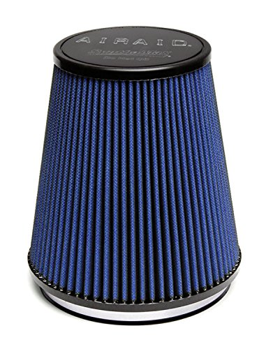 Airaid 703-461 Universal Clamp-On Air Filter: Round Tapered; 6 in (152 mm) Flange ID; 8 in (203 mm) Height; 7.25 in (184 mm) Base; 5 in (127 mm) Top
