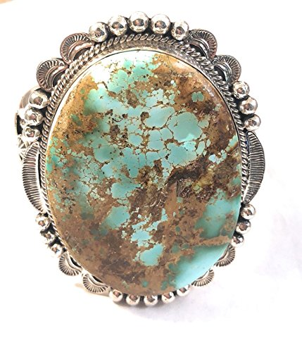 Nizhoni Traders LLC Mary Ann Spencer Navajo Royston Turquoise Sterling Silver Cuff Bracelet Signed