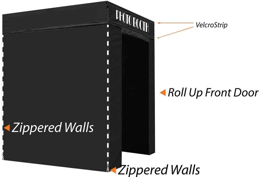 Impact Canopy 5 x 5 Pop-Up Portable Photo Booth Tent Studio with Roller Bag, Black