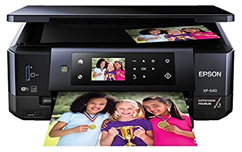 Epson XP-640 Expression Premium Wireless Color Photo Printer with Scanner & Copier (Photo Printer For Iphone 6)