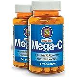 Vitamina C de alta Potencia (1000mg) Set DE 2 frascos con Rosa Mosqueta y