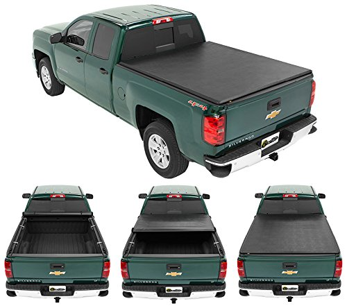 (Bestop 19210-01 EZ-Roll Tonneau Cover for 2007-2013 Chevy Silverado/GMC Sierra 1500 & 2014 2500/3500 (won't fit classic body style; w/o bed management system), 8.0' bed )