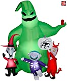 AIR CHARACTERS 7' Gemmy Airblown Inflatable Oogie Boogie with Lock, Shock & Barrel from Nightmare Before Christmas 223513
