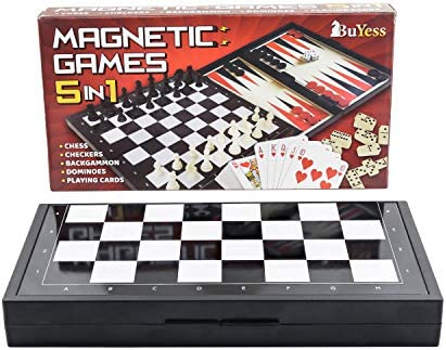 Magnetic Checkers Dominoes Backgammon Playing product image