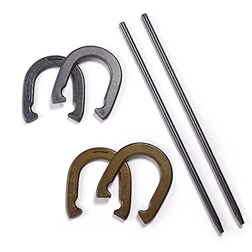 Ozark Trail Horseshoe Set of 4 Cast Iron,2.2-Pounds,Rules and Instructions Included by EastPoint Sports