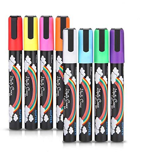 - AGPtek Fluorescent Marker Pen 8 Colors/set for LED Writing Menu Board