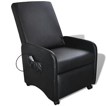 Lingjiushopping Massage Sessel Elektrisch Verstellbar Kunstleder