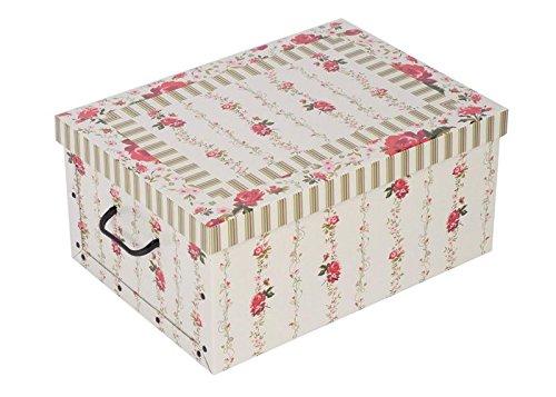 aufbewahrungsbox aus robuster pappe mit deckel mit. Black Bedroom Furniture Sets. Home Design Ideas