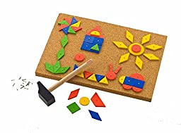 100 Wooden Tiles, Tap and Tack Playset