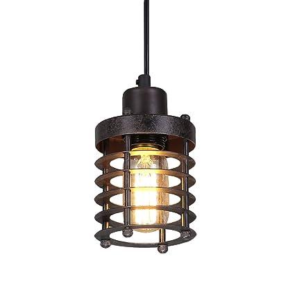 Industrial lighting fixtures Home Lnc A02534 Mini Cage Rust Industrial Lighting Ceiling Pendant Fixtures Brown Amazoncom Lnc A02534 Mini Cage Rust Industrial Lighting Ceiling Pendant