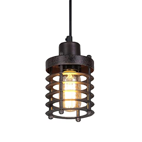 Lnc mini cage pendant lights rust ceiling lights industrial lnc mini cage pendant lights rust ceiling lights industrial pendant lighting aloadofball