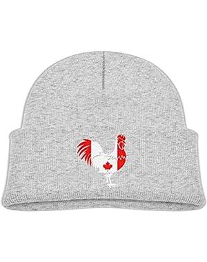 Fashion Canada Flag Printed Newborn Baby Winter Hat Beanie