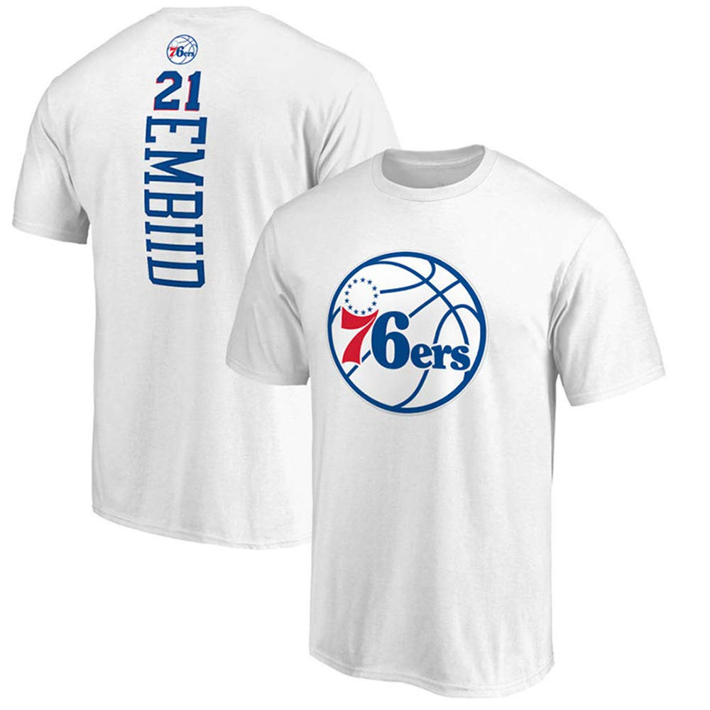Camiseta NBA Philadelphia 76ers Joel Embiid Fans de Baloncesto ...