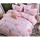 BEIRU New Tencel Four Sets Of Cotton Activity Printing Double Bed Supplies 2 Meters Quilt Sheets ZXCV (Color : 7, Size : 200230cm)