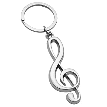 keepdrum - Llavero para violín, diseño de clave de sol ...