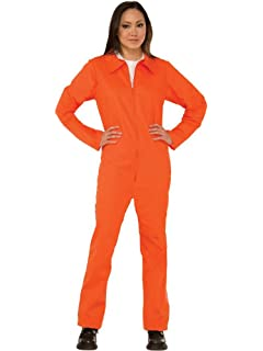 4d2839a6f485 Forum Novelties Adult Orange Prison Suit Unisex Costume
