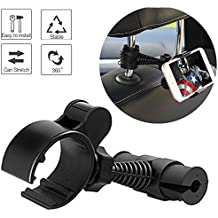 Universal Baby Kids Car Backseat Headrest Car Mount Stand Snap-on Holder with 360 Degrees Rotation Car Headrest Mount for iPhone X 8 8 Plus 7 7Plus, Samsung Note 8 S8, S7 by ZoneFly
