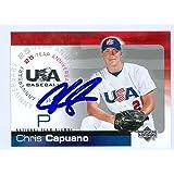Chris Capuano autographed 2004 USA Baseball Upper Deck Baseball Card #36 - Autographed Baseball Cards
