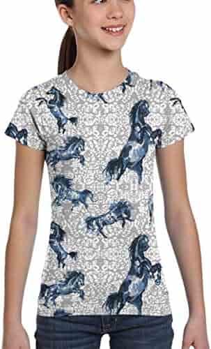 LIURIC Charli-Damelio Graphic T-Shirts Children Boys and Girls Short-Sleeved T-Shirt