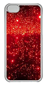 Transparent Hard Plastic Case for iPhone 5C Photograph with Red Drops