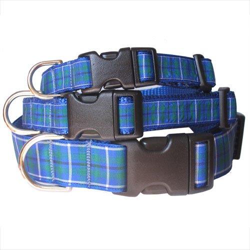 Plaid Dog Collar, Blue Douglas Tartan, My Pet Supplies