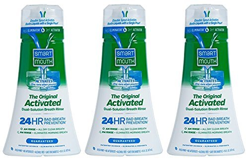 SmartMouth Original Activated Mouthwash for Fresh Breath, Dual-Solution Oral Rinse System, 16 ounce, 3 pack