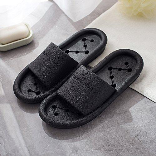 anti negro Negro Fankou de Blanco zapatillas nbsp;Las slip femenino nacional ducha zapatillas retrete Verano expuesto WC baño 45 interior cool 44 qRB0Z