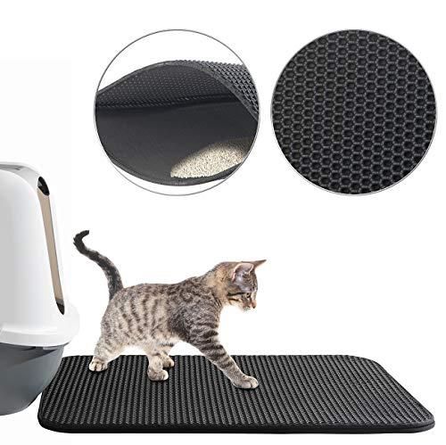 Sweetypet Wasserdichter Katzenklo-Vorleger mit Wabenstruktur, 65 x 45 cm (Katzenklovorleger)