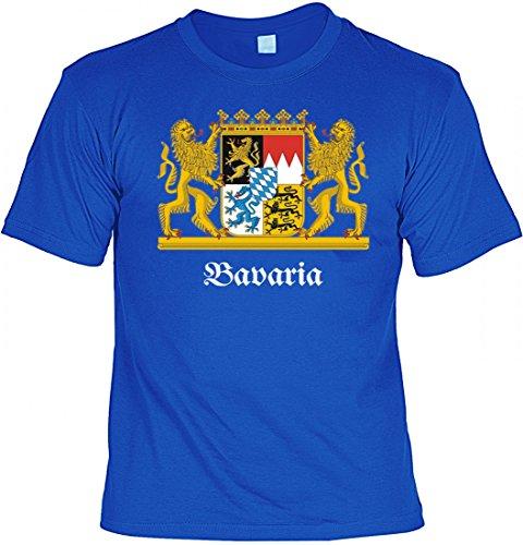 T-Shirt - Bavaria - bedrucktes Motivshirt mit Wappen als tolles Geschenk für Bayern Süddeutschland und Freistaat Fan