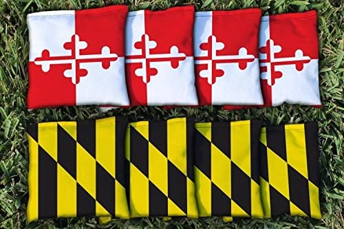 B01LXLWQVO Victory Tailgate Maryland Flag Replacement Cornhole Bag Set (Corn-Filled) 51YfjSvTlFL