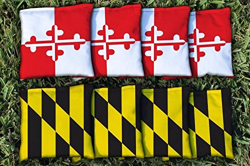 Maryland Tailgate - Victory Tailgate Maryland Flag Replacement Cornhole Bag Set (Corn-Filled)
