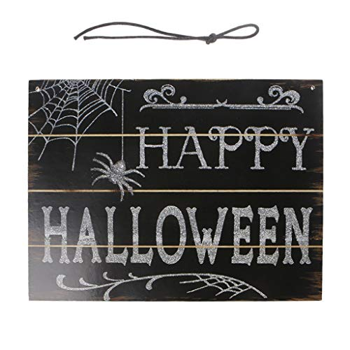 RingBuu Happy Halloween Signs, Wooden, Fall Hanging Plaque Board, Indoor and Outdoor, Halloween Hanging Door Decorations and Wall Signs, for Home, School, Office, Party Props Decorations -