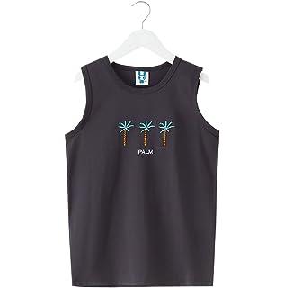 YueLian Girls Summer Vest Shirt Plaid Shorts Knee High Loose Pants Set