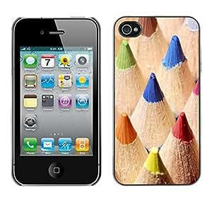 Print Motif Coque de protection Case Cover // V00001852 macro lápices de color // Apple iPhone 4 4S 4G