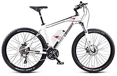 Magnum Leisger MD5 Pure Power Electric Bicycle , Electric Mountain Bike, 350w, WHITE Free Gift 16000mAh Solar Power Bank distributed by Bikes Xpress