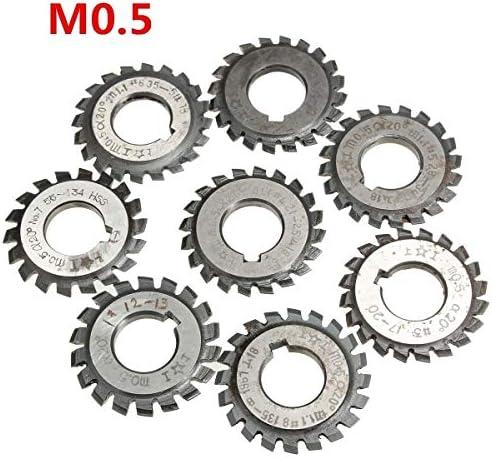 GENERICS LSB-Werkzeuge, Modul 0,5 M0,5 PA20 Grad Bohrung 16mm # 1-8 HSS Involute Zahnradfräser Hochgeschwindigkeitsstahlfräser Zahnradschneidwerkzeuge (Cutting Edge Diameter : 1)