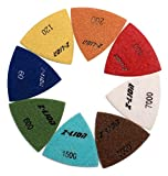 Diamond Triangle Sandpaper Sanding Pads Sheets for Oscillating Tools by Z-LION (8Pcs/Lot)