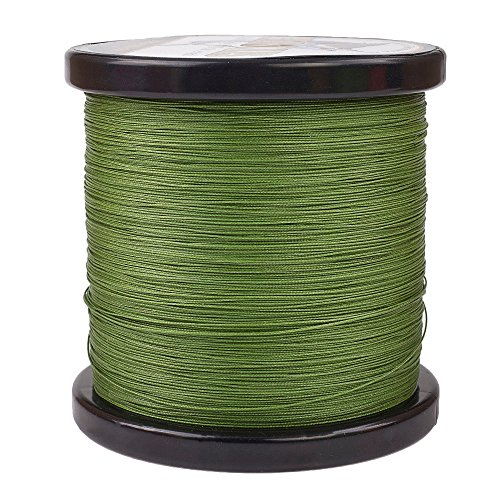 HERCULES Super Cast 1000M 1094 Yards Braided Fishing Line 50 LB Test for Saltwater Freshwater PE Braid Fish Lines Superline 8 Strands - Army Green, 50LB (22.7KG), ()