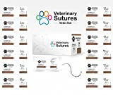 Veterinary Sutures Chromic Gut 0, 1/2 Round 37mm Taper Point Needle