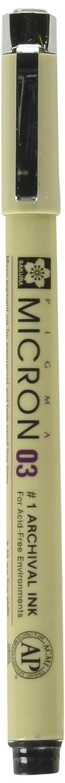 Sakura Pigma Micron Zeichenstift, 0,25mm, schwarz (01) 25mm XSDK